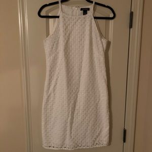 White House Black Market White Eyelet Dress